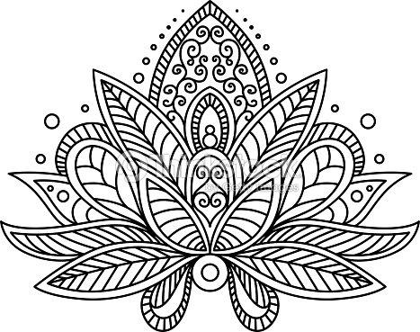 Persian Or Turkish Paisley Flower Vector Art