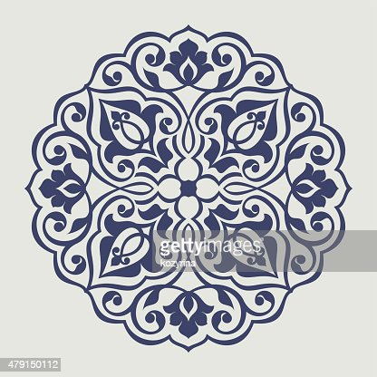 Persian round pattern : Vector Art