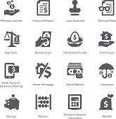 This set contains personal & business finance icons that can be used for designing and developing websites, as well as printed materials and presentations.