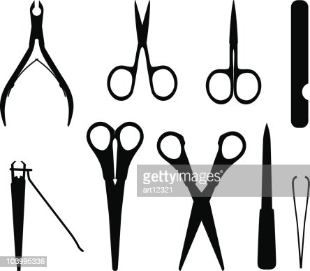 personnels des ongles style ensemble de p233dicure et de