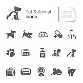 Pet & animal related icons. Come with layers.