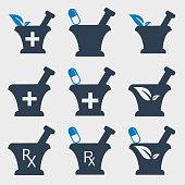 Pharmacy and Medical  icon set