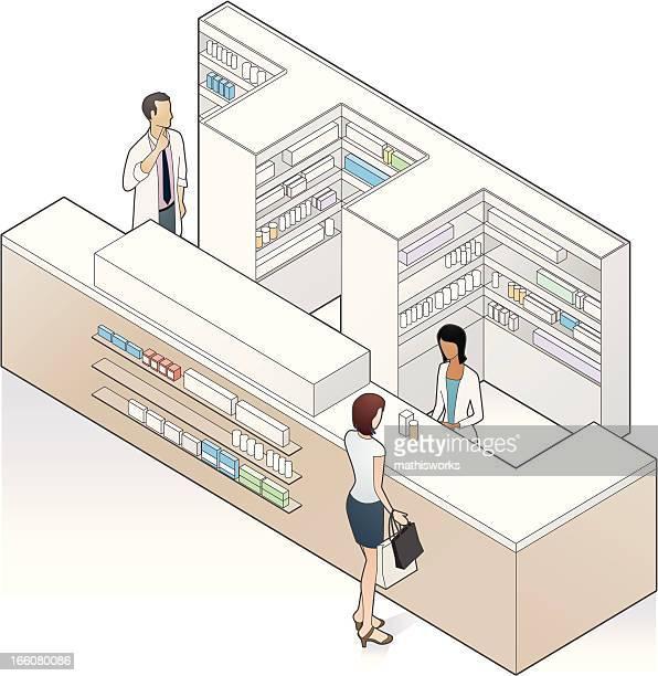 Pharmacy Counter Illustration