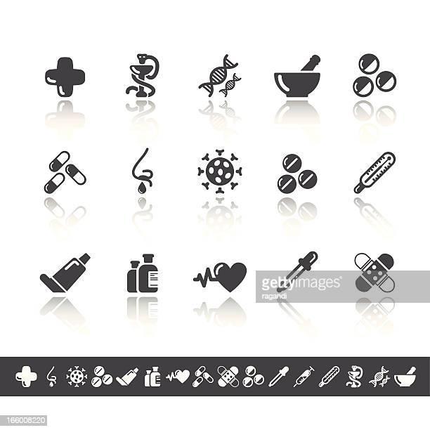 Pharmacy Icons | Simple Grey