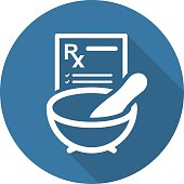 Pharmacy Medicine and Medical Services Icon. Flat Design. Isolated.