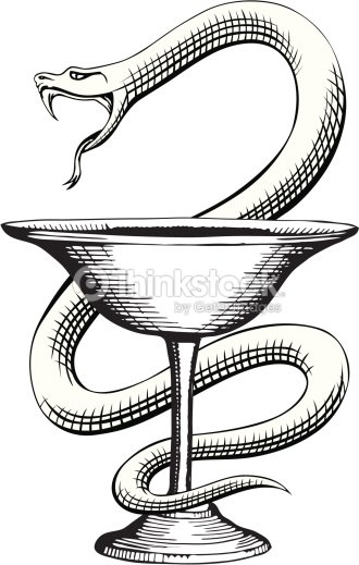 Pharmacy Snake And Cup Medical Symbol Vector Art Thinkstock