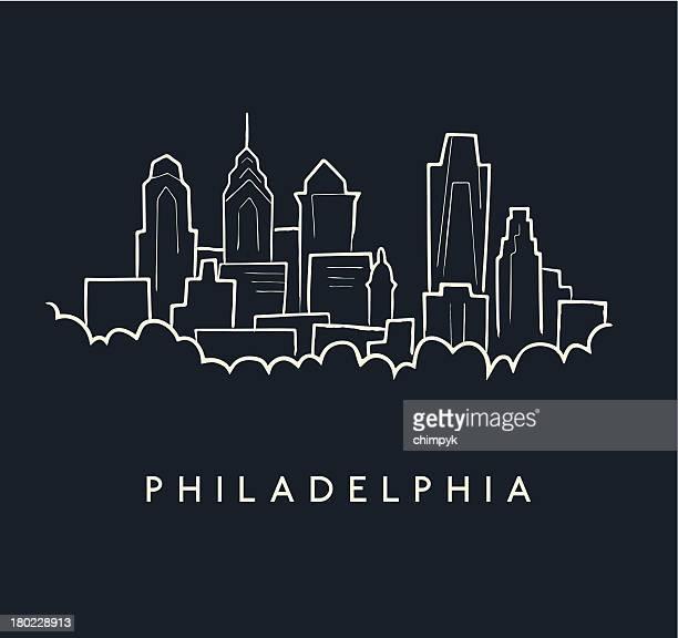 Philadelphia Skyline Sketch