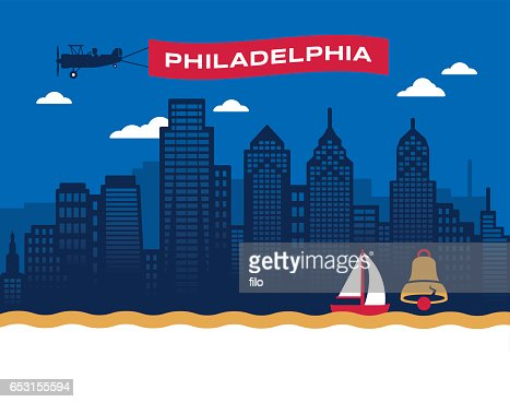 Philadelphia Skyline : Vector Art