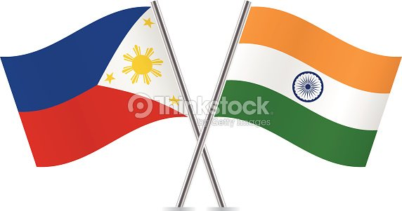 Philippines And Indian Flags Vector Art