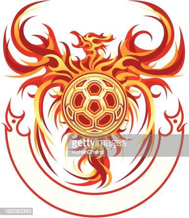 Phoenix Ball Emblem Vector Art Getty Images