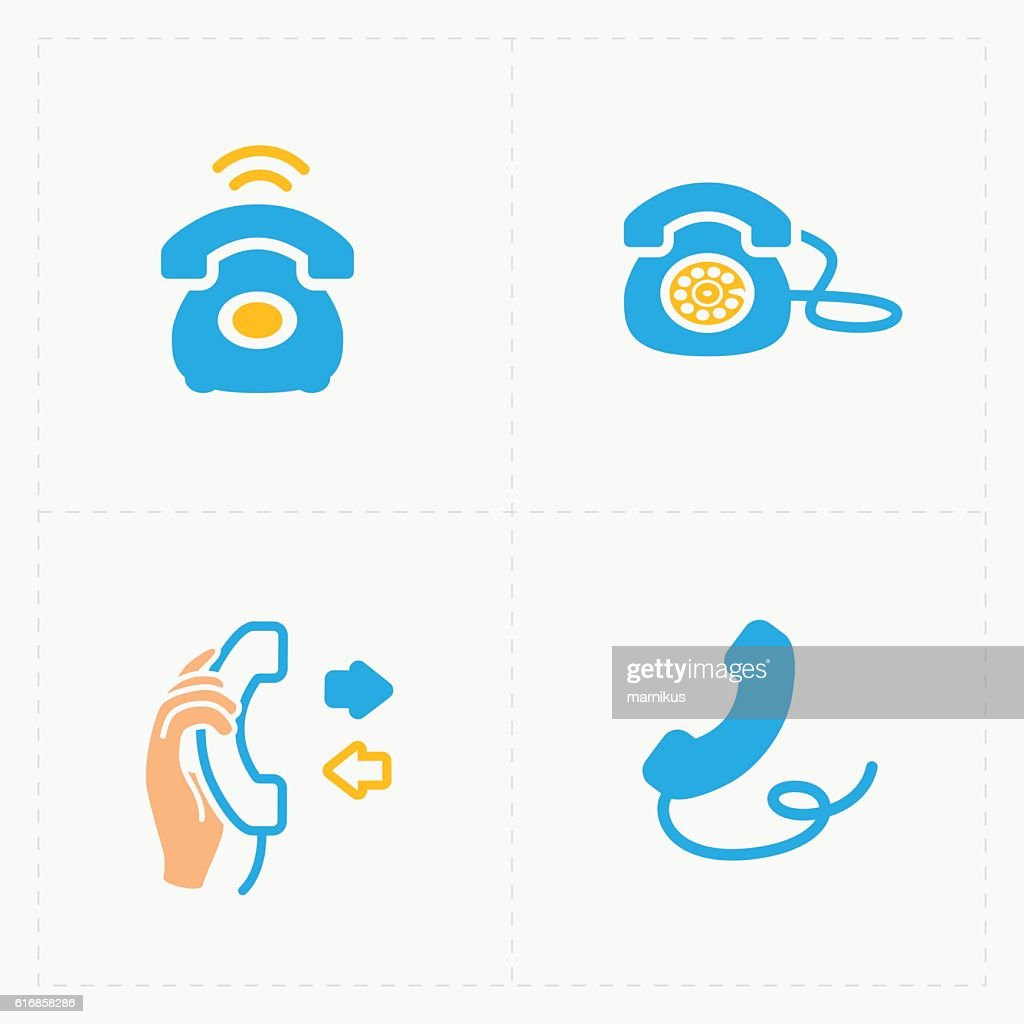 Phone colorful icons, vector illustration. : Vector Art