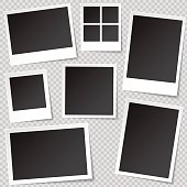 Set of photo frame templates with different aspect ratio.