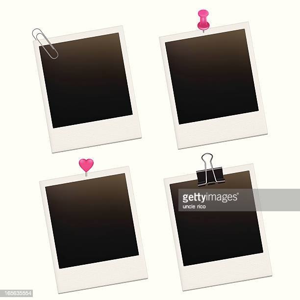 Photo cards with pins set