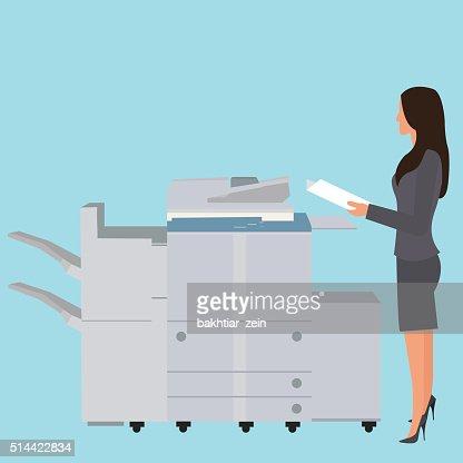 Copy machine office upskirt