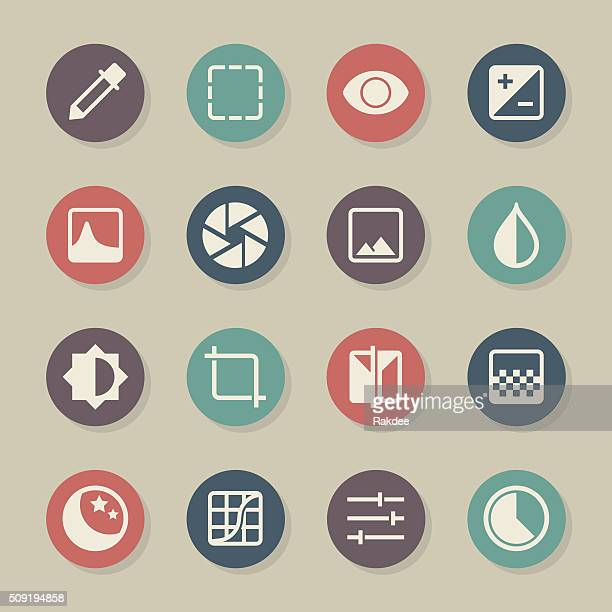 Photo Editor Icons - Color Circle Series