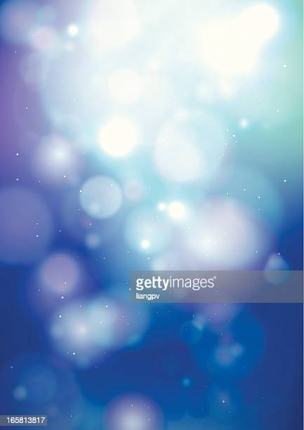 Photo of blurred blue and purple light