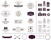 Photographer and photo studio style sign, element, icon and signatute