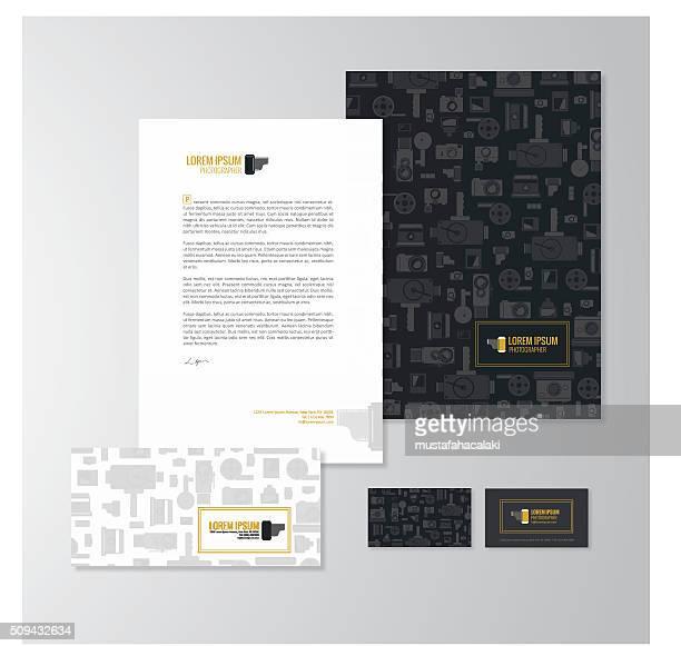 Fotógrafo de diseño de papelería