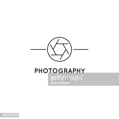 Photography line icon template : Vector Art