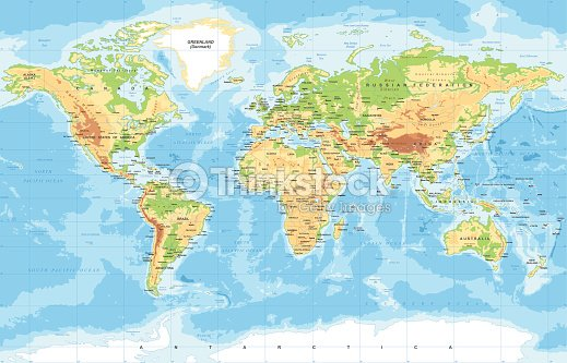 Physical world map arte vectorial thinkstock physical world map arte vectorial gumiabroncs Choice Image