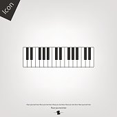 Piano key vector icon