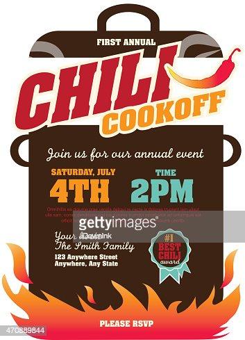 Picnic And Barbecue Chili Cookoff Invitation Design
