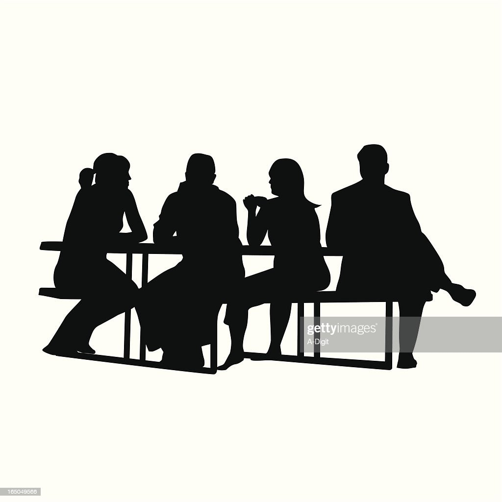 Picnic Table Vector Silhouette Vector Art Getty Images