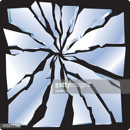 Shattered mirror clipart