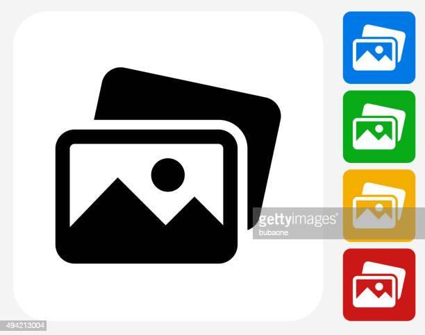 Pictures Icon Flat Graphic Design