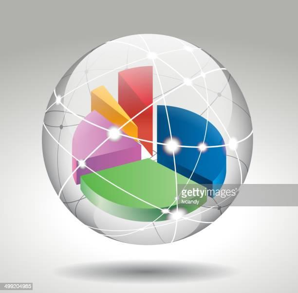 Pie chart in cyberspace