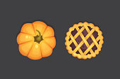pie vector icon isolated. Thanksgiving Day illustration