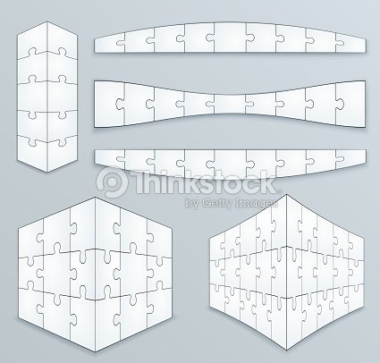 Piece Jigsaw Puzzle Template Vector Art