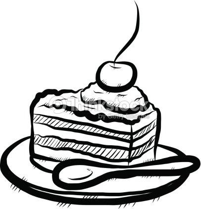 Stuck Kuchen Skizze Vektorgrafik Thinkstock