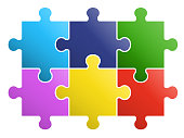 6 pieces Puzzle design