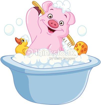 Schwein ein badezimmer vektorgrafik thinkstock - Badezimmer comic ...