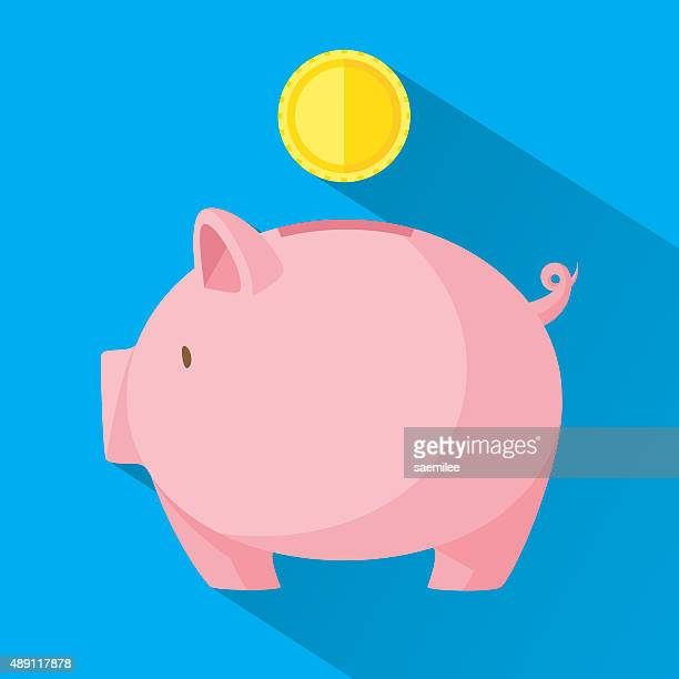 Line Drawing Piggy Bank : Piggy bank stock illustrations and cartoons getty images