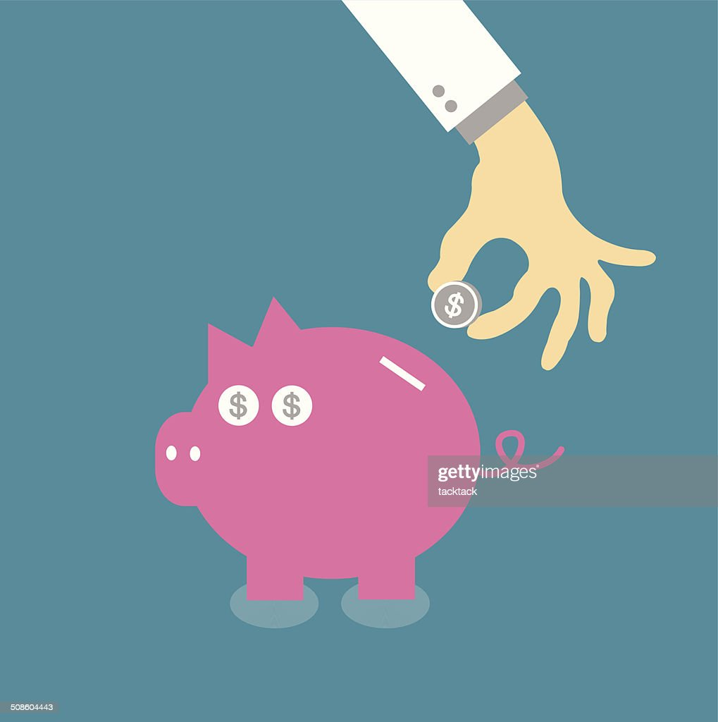 Piggy bank : Vector Art