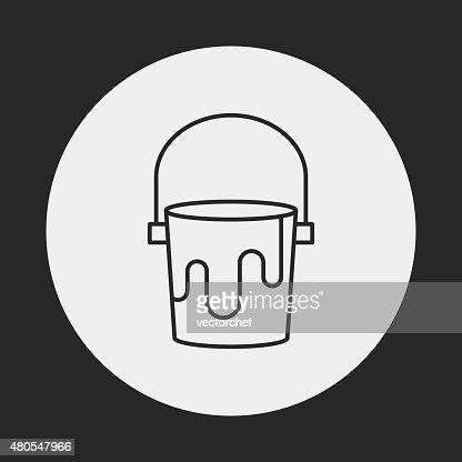 Pigment paint line icon : Vector Art