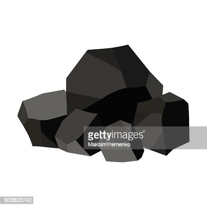 Pile of charcoal, graphite coal. : stock vector