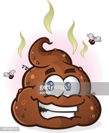 Pila de personaje de historieta de Poop : Arte vectorial