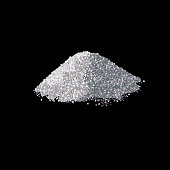 Pile of rock salt isolated on the black background. Vector illustration