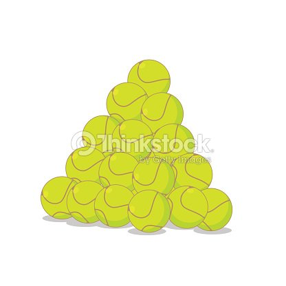 Pile of tennis balls. Many tennis ball. Sports accessory