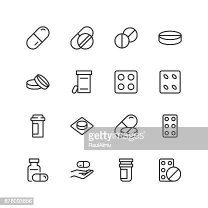 Cachets plat icône : Clipart vectoriel