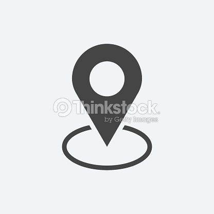 Pin Icon Vector Location Sign In Flat Style Isolated On