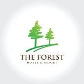 Pine Forest illustration