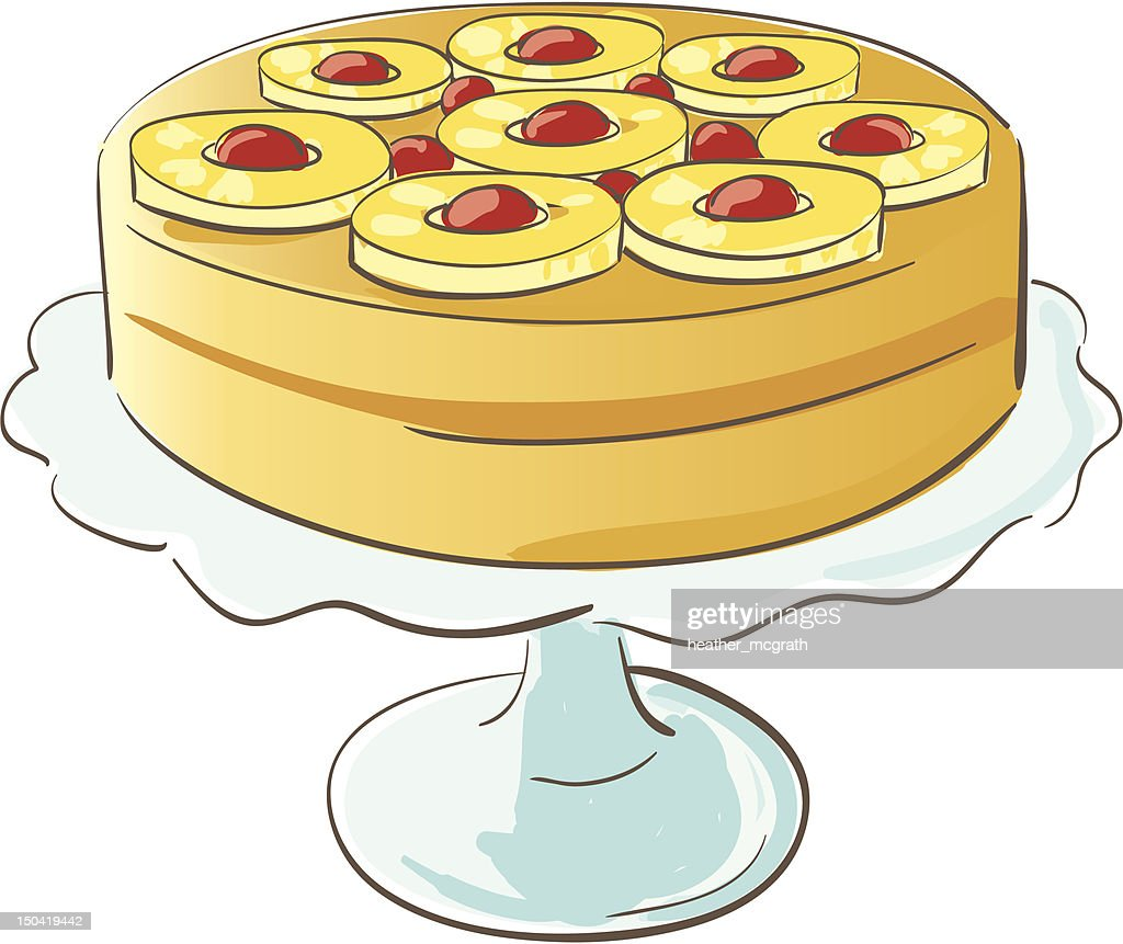 Pineapple Upside Down Cake : Vector Art