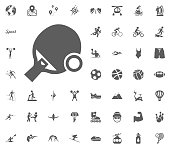 Ping pong icon. Sport illustration vector set icons. Set of 48 sport icons