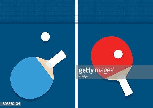 Ping-pong vector illustration : stock vector