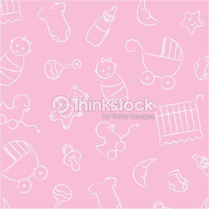 De Fundo Rosa Bebê Menina Padrão Arte Vetorial Thinkstock