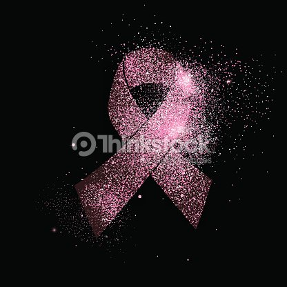 Pink Breast Cancer Ribbon Glitter Concept Symbol Vector Art Thinkstock